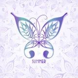 El ejemplo del vector del fondo del verano hizo mariposas Imágenes de archivo libres de regalías