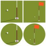 El ejemplo en el tema del golf Fotografía de archivo