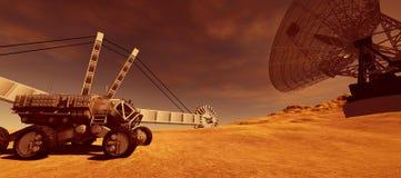 El ejemplo extremadamente detallado y realista de la alta resolución 3d de una colonia encendido estropea como el planeta Los ele libre illustration