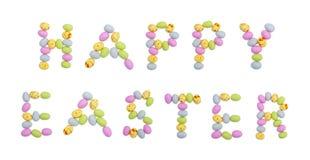 El ejemplo feliz de Pascua hizo de los huevos de Pascua del chocolate imágenes de archivo libres de regalías