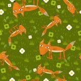 El ejemplo de labranza - estilo de la historieta - ejemplo para los niños - buenos para envolver - papel pintado - etc. Fotografía de archivo libre de regalías