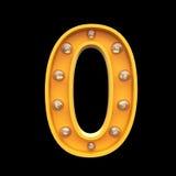 El ejemplo ligero 3d de las lámparas de los números rinde Imágenes de archivo libres de regalías
