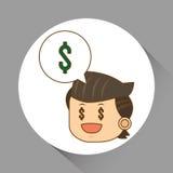 El ejemplo plano sobre empresarios diseña, vector la historieta Fotos de archivo libres de regalías