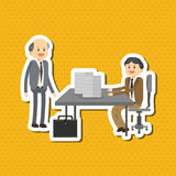 El ejemplo plano sobre empresarios diseña, vector la historieta Foto de archivo libre de regalías