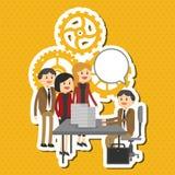 El ejemplo plano sobre empresarios diseña, vector la historieta Imágenes de archivo libres de regalías