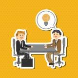 El ejemplo plano sobre empresarios diseña, vector la historieta Fotografía de archivo