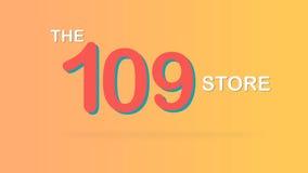 El ejemplo promocional especial del gráfico del contexto de la venta de 109 tiendas stock de ilustración