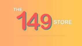 El ejemplo promocional especial del gráfico del contexto de la venta de 149 tiendas ilustración del vector