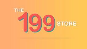 El ejemplo promocional especial del gráfico del contexto de la venta de 199 tiendas libre illustration