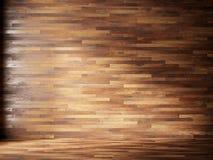 El ejemplo rinde el interior natural con los paneles de pared de madera Foto de archivo