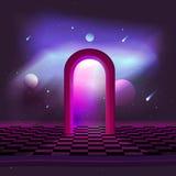 El ejemplo teleport la puerta en espacio Fotografía de archivo libre de regalías