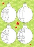 El ejercicio de la Navidad - Santa Claus - página del ejemplo y del trabajo para los niños Fotografía de archivo libre de regalías