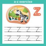 El ejercicio de la Z-cebra de la letra del alfabeto, papel cortó concepto ilustración del vector
