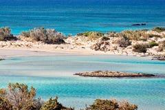 El Elafonissos exótico en Creta, Grecia Fotografía de archivo
