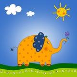 El elefante. Foto de archivo libre de regalías