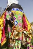 El elefante adornado. Foto de archivo