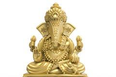 El elefante aisló el oro aislado Imagen de archivo