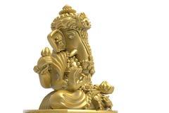 El elefante aisló el oro aislado Fotografía de archivo libre de regalías