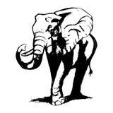 El elefante camina (los gráficos) Fotografía de archivo libre de regalías