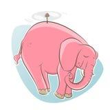 El elefante rosado está volando Fotografía de archivo libre de regalías