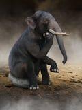 El elefante surrealista piensa, las ideas, innovación Foto de archivo libre de regalías