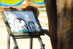El elefante tailandés está dibujando la imagen Imágenes de archivo libres de regalías