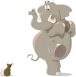 El elefante y el ratón Foto de archivo libre de regalías