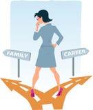 El elegir entre la carrera y la familia Imagen de archivo