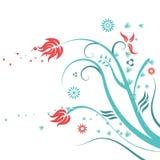 El elemento colorido del diseño floral, florece el fondo abstracto Imagen de archivo