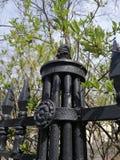 el elemento decorativo de la cerca imagen de archivo