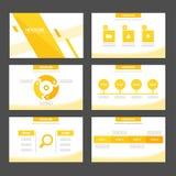 El elemento infographic del verde abstracto de la hoja y el diseño plano de las plantillas de la presentación del icono fijaron p Foto de archivo