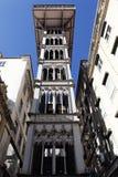El elevador de Santa Justa Imágenes de archivo libres de regalías