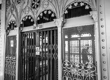 El elevador en Santa Justa Street en Lisboa - LISBOA/PORTUGAL - 15 de junio de 2017 Imagen de archivo libre de regalías