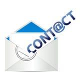 El email nos entra en contacto con Imágenes de archivo libres de regalías
