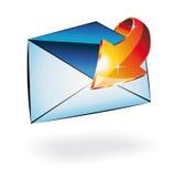 El email recibió Illusrtation conceptual Imágenes de archivo libres de regalías