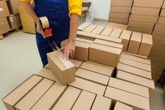 El embalar de los productos Foto de archivo libre de regalías