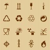 El embalar e iconos logísticos del vector Imagen de archivo libre de regalías