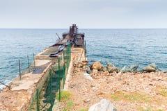 El embarcadero abandonado Foto de archivo libre de regalías