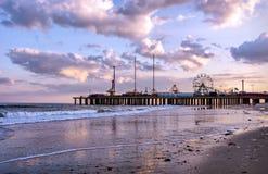 El embarcadero de acero en Atlantic City, los E.E.U.U. Fotografía de archivo libre de regalías
