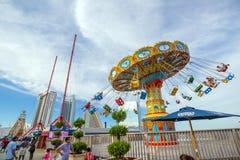 El embarcadero de acero famoso en Atlantic City Imagen de archivo