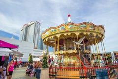 El embarcadero de acero famoso en Atlantic City Imagen de archivo libre de regalías
