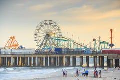 El embarcadero de acero famoso en Atlantic City Imagenes de archivo