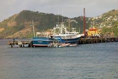 El embarcadero de las aduanas en Kingstown, st vincent Imágenes de archivo libres de regalías