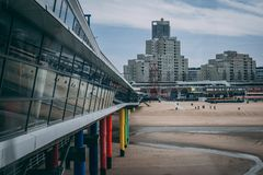 El embarcadero de Scheveingen La Haya en los Países Bajos foto de archivo libre de regalías