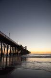 El embarcadero en la puesta del sol Fotografía de archivo libre de regalías
