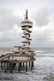 El embarcadero en Scheveningen en los Países Bajos Imagen de archivo
