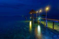 Embarcadero romántico en Tailandia Fotografía de archivo