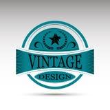 El emblema del vector Diseño del vintage Foto de archivo
