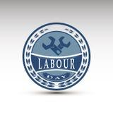 El emblema del vector para el día de trabajo Imagen de archivo