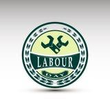 El emblema del vector para el día de trabajo Fotos de archivo
